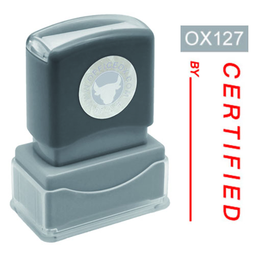 OfficeOx OX127 原子印章 - CERTIFIED By
